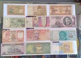 Jual uang kertas kuno lawas jadul dari berbagai negara asing