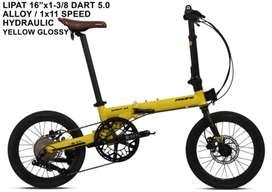 Sepeda lipat folding bike pasific dart 5.0 11speed new baru bnib