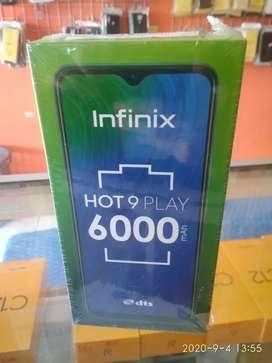 Infinix hot 9 play ram 4/64 GB barang grass asli