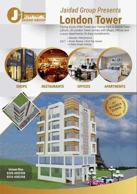 Luxury Apartments in Bahria Town Lahore Facing Eiffel Tower.