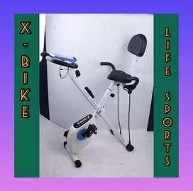 sepeda statis murah xbike sandaran life sports promo