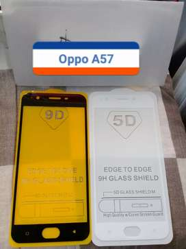 Premium High Tempered glass 9D Oppo A57