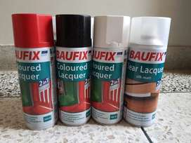 Baufix coloured Lacqure liquid spray paint made in GERMANY
