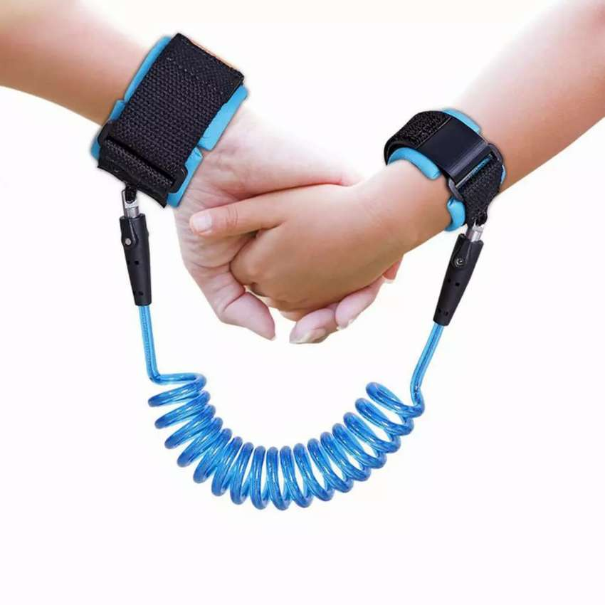 Latest New Child Wrist Reins Baby Wrist Strap For Anti Lost - BLUE 0