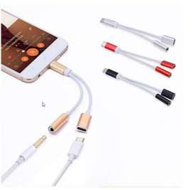 Type C Audio Jack Splitter 3.5mm charging port