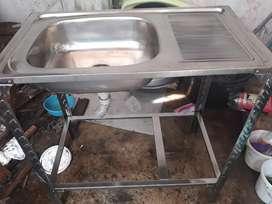 Sink Cuci Piring Portable Meja Bahan Stainless