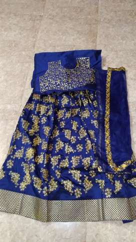 Navy blue embroidery lehenga