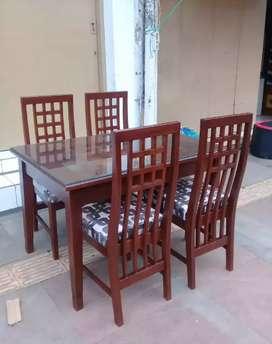 Meja makan kayu jati kursi 4 siap antar