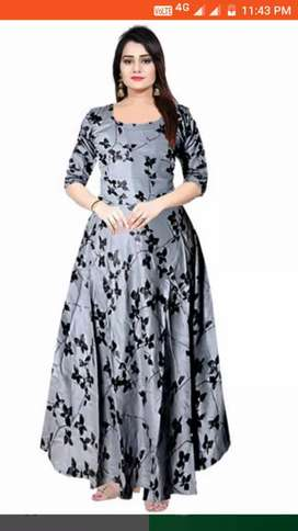 Trendy Rayon Printed/Women's Dresses/Featured/Discount Off 900-250=650