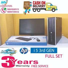2GB graphic)i5 3rd gen(monitor4gb ram^500 hdd#cpu&HP-full set@computer