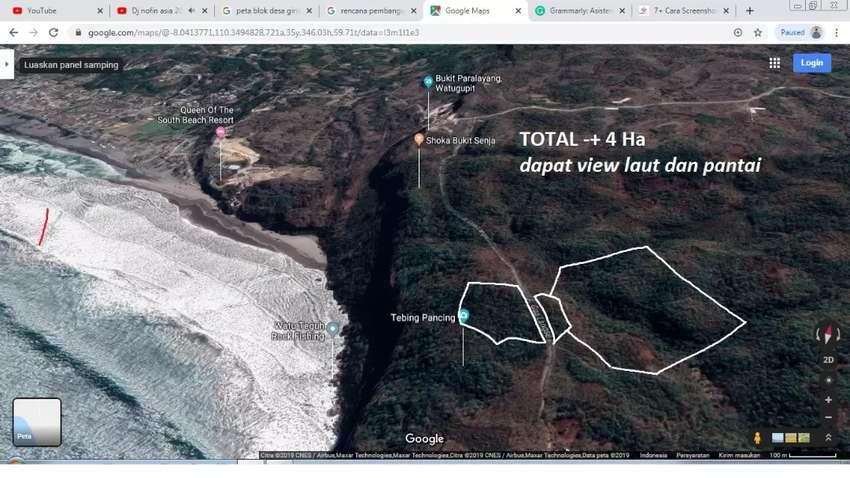Dijual Tanah Luas View Pantai Parangtritis cocok buat Resort/Villa 0
