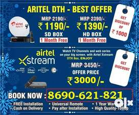 Best Price Dth Settop Box hd sd Lowest price offer airtel dth smartbox