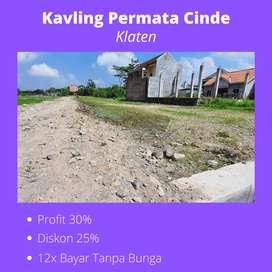 Terbaik; Kavling Permata Cinde, 1KM Dari Jl. Raya Solo - Jogja.