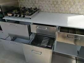 Modular Kitchen Steel