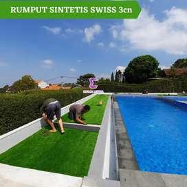 Rumput sintetis swiss taman outdoor dan indoor