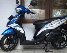Yamaha Mio GT / J 2014 Cw Asli Biru Putih B dki Pusat Tangan 1