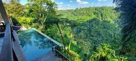 Dijual villa dengan panorama lembah los sungai ayung di ubud