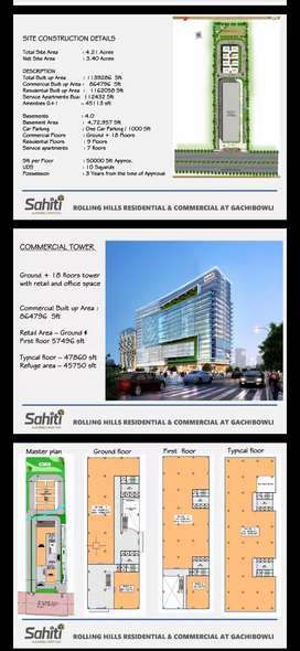 Commercial & Residential Project at Gachibowli rolling hills.