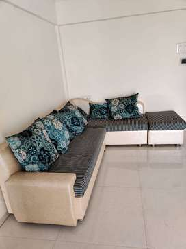 L shape sofa and  center table