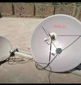 New dish antenna connection available in Karachi Pakistan.