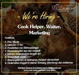 lowongan kerja cook helper & waiter