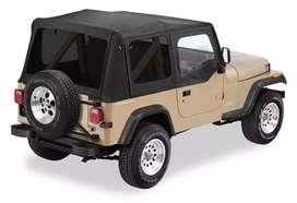 Canvas Jeep Bestop CJ YJ Tinted Halfdoors