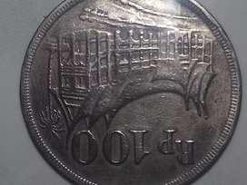 Dijual Uang 100 tahun 1973