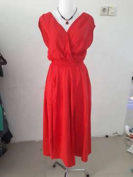 Jual dress import second murah & cantik