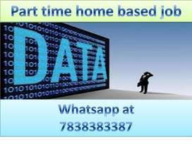 Data entry work part time job home based job typing work