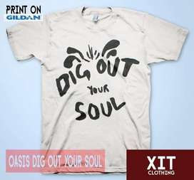 Kaos Distro Musik Oasis Dig Out Your Soul