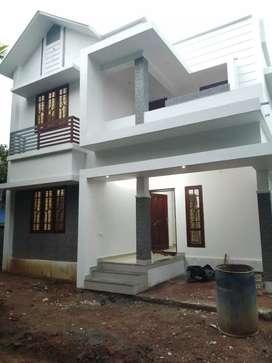 3.5 cent 1300 sqft 3 bhk new build house at aluva near kottappuram