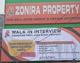 FREELANCE Marketing Property overkredit,Primary,Secondary @Depok
