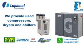 Used Screw Air Compressor , Dryers and Chiller