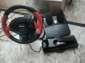 Power racing wheel for Playstation 2