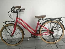 Sepeda London Taxi Warna Merah