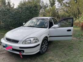 Honda civic 1998 model White color Islamabad number