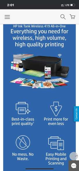HP Ink Tank Wireless Colour Printer 419