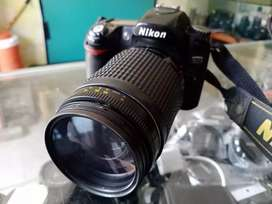 Nikon D80 with 70-300mm full bluring camera