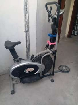 slimline elliptical with twister and four doumbles three in one