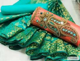 Luxurious handworked dress material