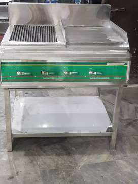 Hot plat and grill size 3 feet stainless steel pizza oven dough mixer