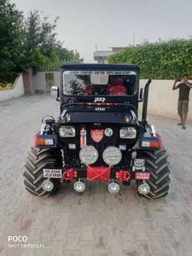 Black Red Ultimate Modified Hunter Jeep