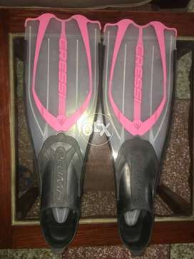 swimming flippers Italian made