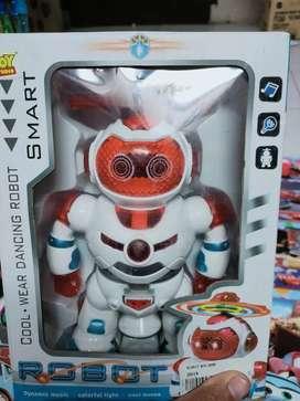 Mainan anak robot berputar dansa