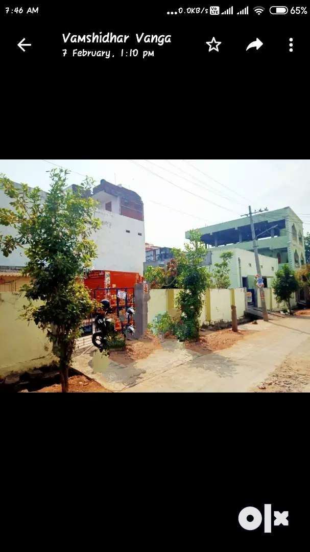 Independent house in 416 Sqyards Nr court for sale  2 sided 30ft  road 0