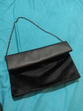 Imported black Clutch bag( Leather)