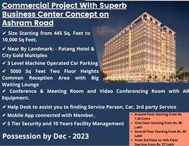 930 Feet | 2nd Floor Showroom for Sale on Ashram Road