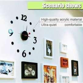 Jam Dinding DIY Giant Wall Clock Quartz Creative Design 30-50cm