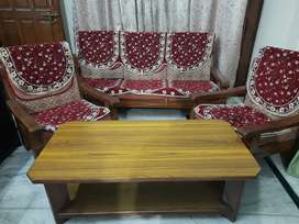 3+1+1 Sofa set with centre table with cover