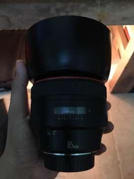 Lensa Canon Ef 85 f1.2 L USM Mulus Banget
